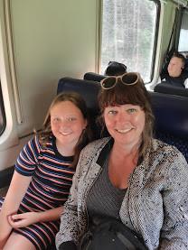 Martina och Ella på #tågsemester till Torbole