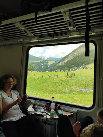 Alperna #tågsemester