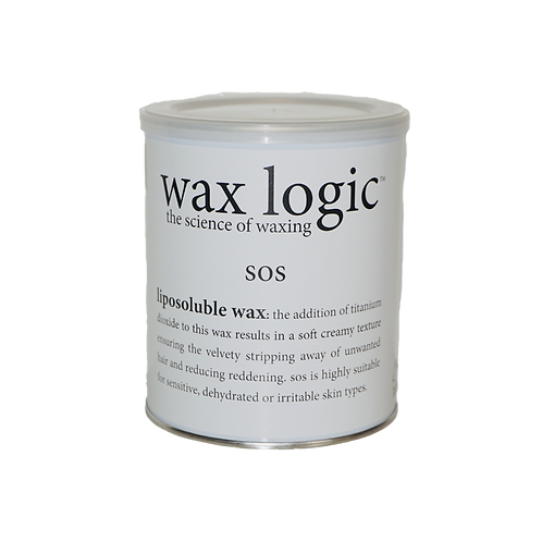 SOS - A hybrid mix of cream and silk wax with titanium  & zinc oxide. 800ml