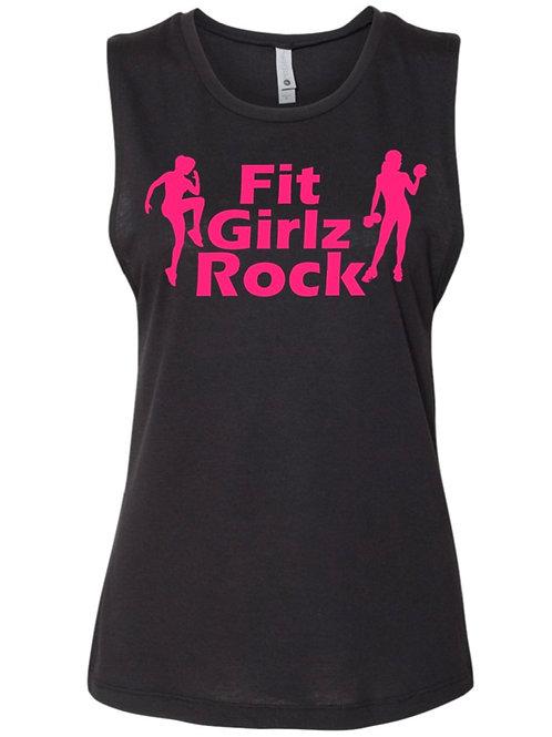 Fit Girlz Rock Sleeveless Tee (with women)