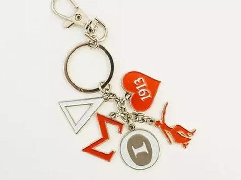 Delta Love keychain