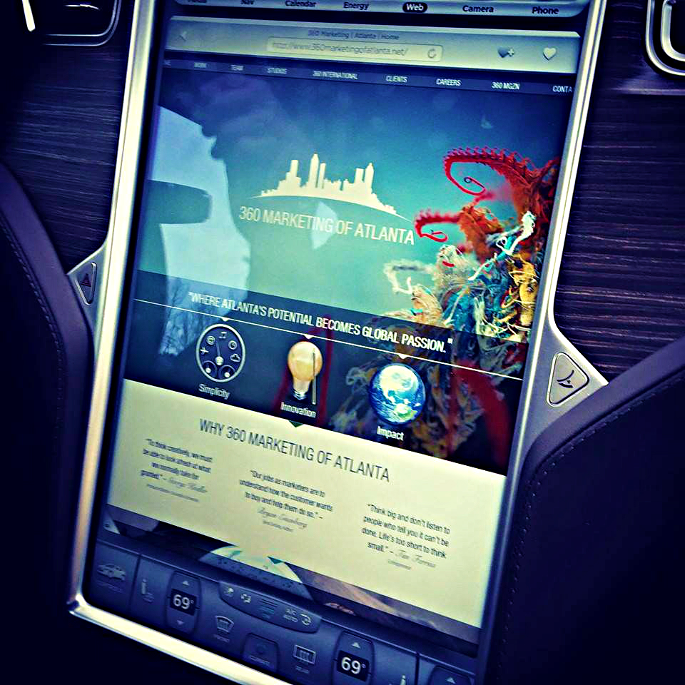 Website Upload in Tesla Model S