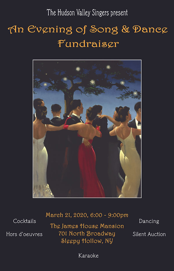 An Evening of Song and Dance Invitation