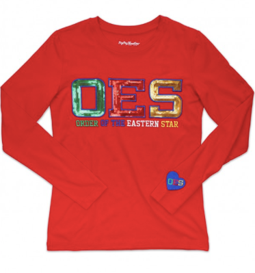 OES SEQUIN LONG SLEEVE TEE