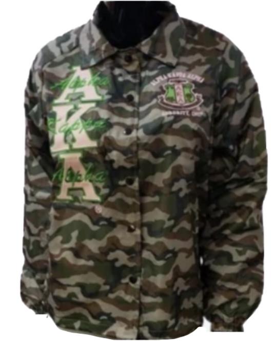 Alpha Kappa Alpha Camouflage Line Jacket