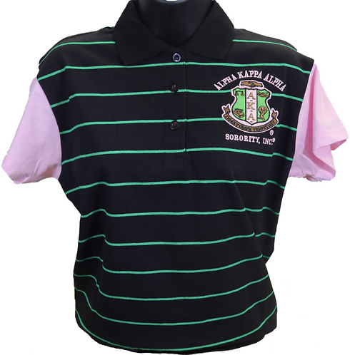 Alpha Kappa Alpha Striped Polo