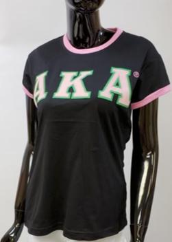 Alpha Kappa Alpha Ringer Tee Shirt