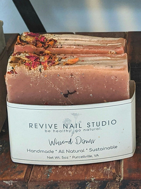 Wine-d Down natural soap