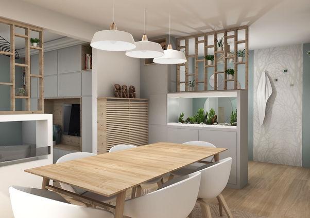 marion-galline-architecte-interieur-lyon-chaville-aménagement-renovation-scandinave-sur-mesure-bleu-gris-bois-clair-entree-salon