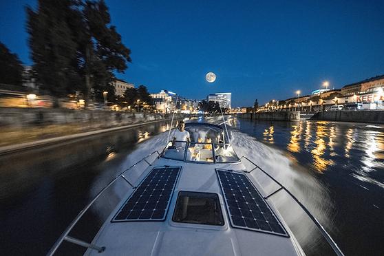 Yachtfeeling - Donaukanal Abendstimmung.