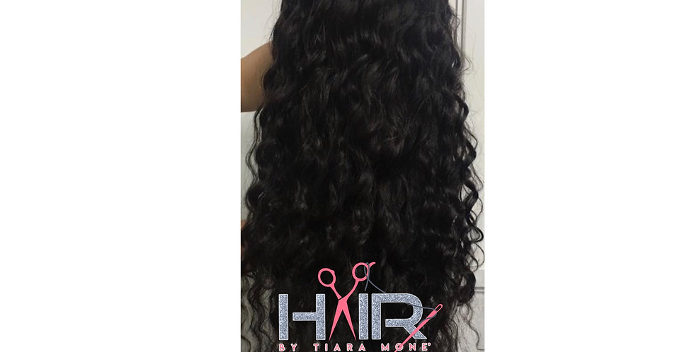 Brazilian Deep Wave x Lace Frontal Wig ( Pink Label )