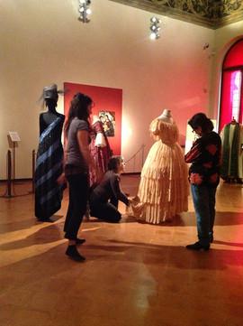 """Mostra """"Gli abiti di Maria Melato"""", Sala del Camino, Palazzo dei Principi, Correggio-Reggio Emilia,26 maggio-10 luglio 2018"""