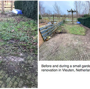 A small garden project before getting started and then after a few hours....