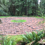 A wlaking labyrinth that I built at the Whidbey Institute on Whidbey Island.