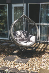 Downstairs Relaxation Area with Hanging Chair