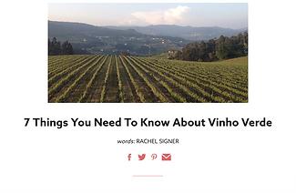 More about Vinho Verde by Mark Blezard