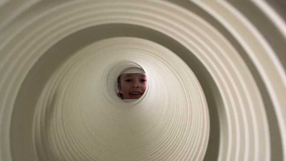 The boy and the tube