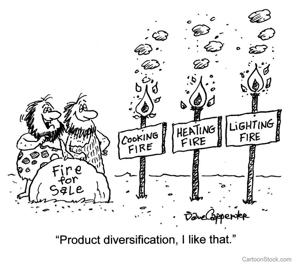 Product diversification by Mark Blezard