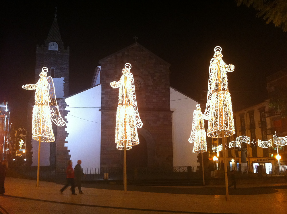 Christmas lights in Funchal, Madeira by Mark Blezard