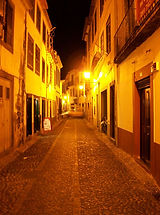 Funchal Old Town, great for eating out in Madeira