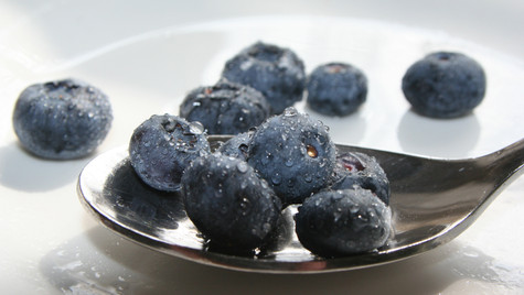 Blue Berries and Spoon