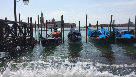 Gondolas and the Grand Canal