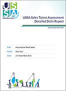 Sales assessment for automotive sales executives