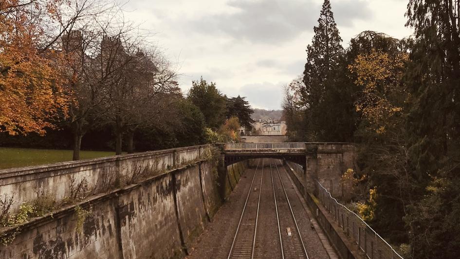 Bath to London train line