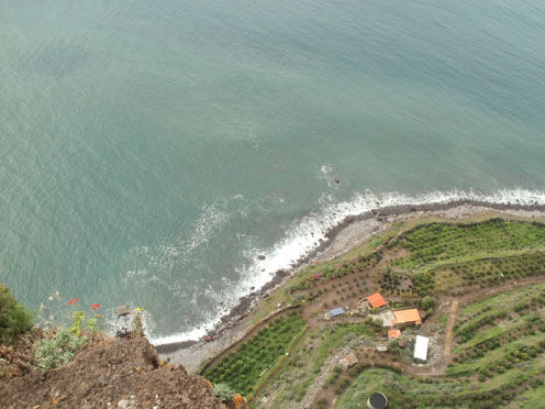 Cabo Girão, Europe's second highest cliff face - a sheer drop of 580m