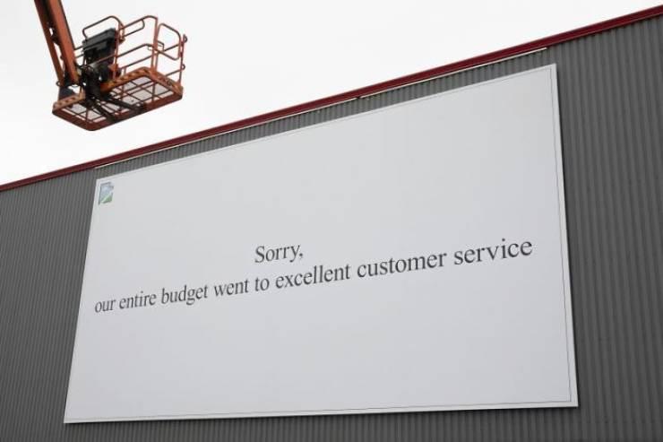 Customer service by Mark Blezard