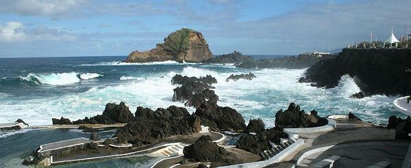 Porto Do Moniz bathing pools in Madeira