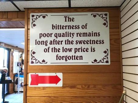 Poor Quality, Poor Price