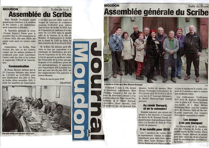 2019-03-02 AG Le Scribe Journal de Moudo