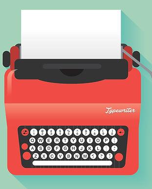 Máquina de escribir roja