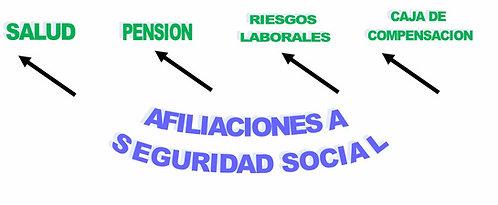 Afiliaciones a seguridad social