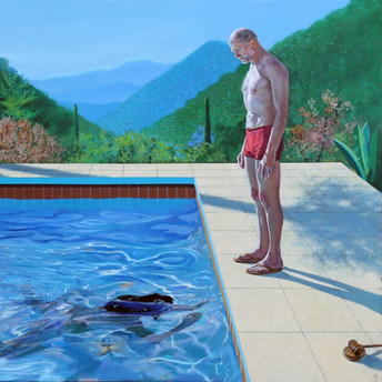 Portrait of an Artist (Pool with Three Figures)