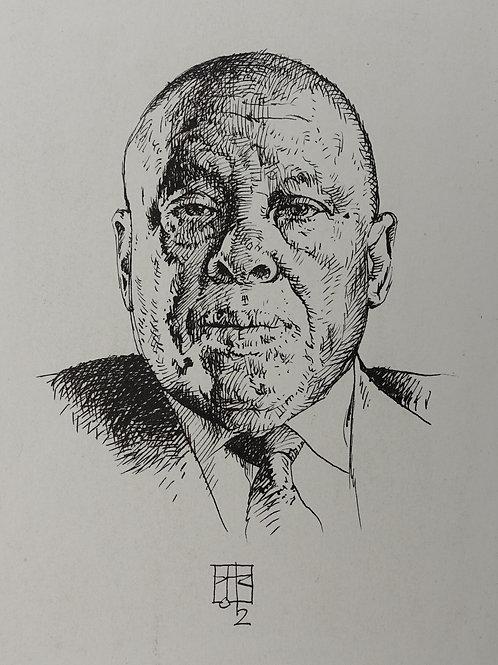 Drawing of His Excellency Festus Mogae