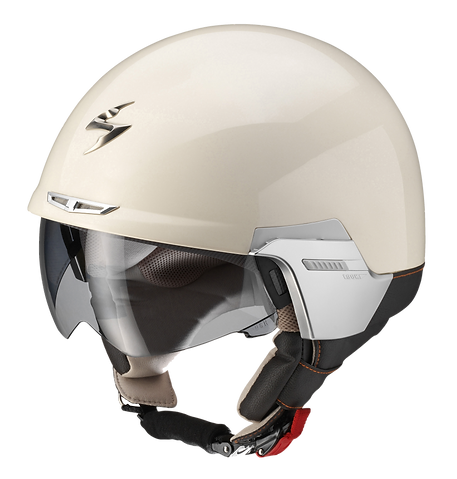 scorpion,exo-100,padova,review, crash,helmet,open,face,scooter,motorcycle