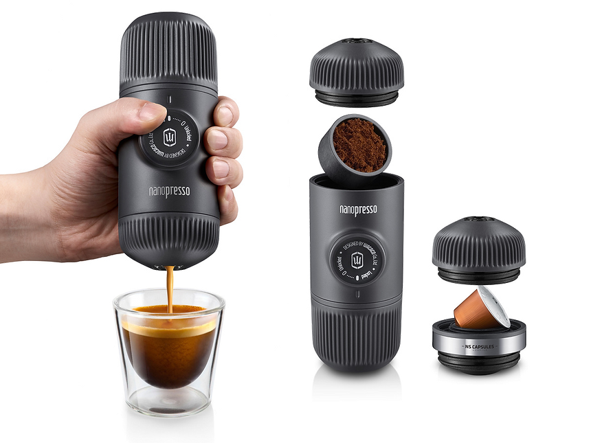 nanopresso, nespresso, travel, review, camping, gear, espresso, portable, maker, pump, pressure, hand