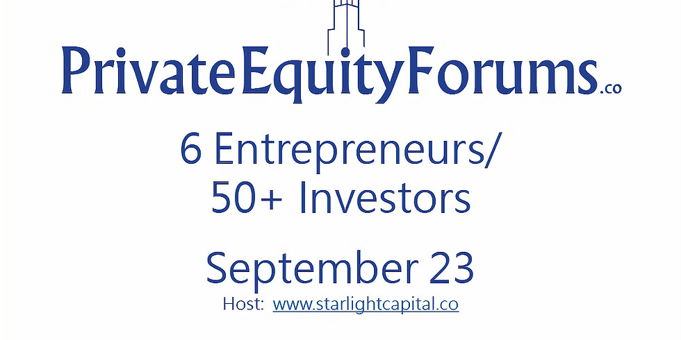 Private Equity Forums - Technology September 23