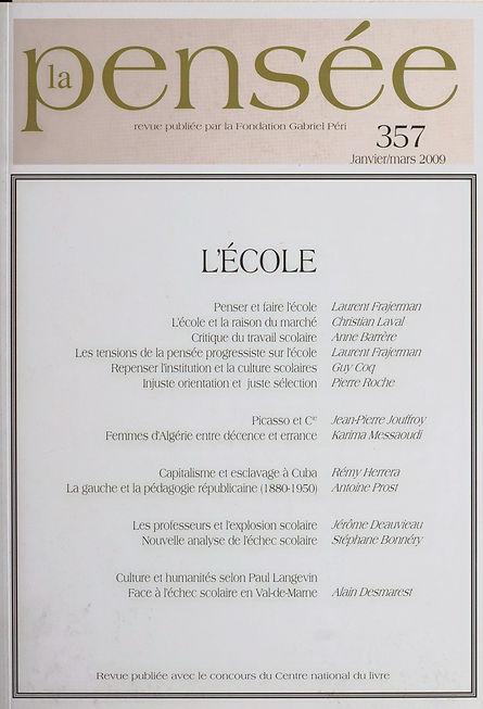 couverture dossier Ecole Laval Prost Barrère