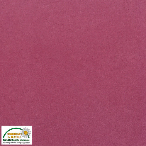 Avalana Velour Corduroy - Nicki-Jersey kräftig rosa - STOF