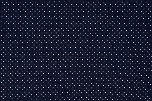 PW-Stoff dunkelblau wei�e P�nktchen 145 cm - Quality