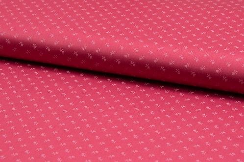 Kleidersatin Romantico Coral / pink Streubl�mchen rosa