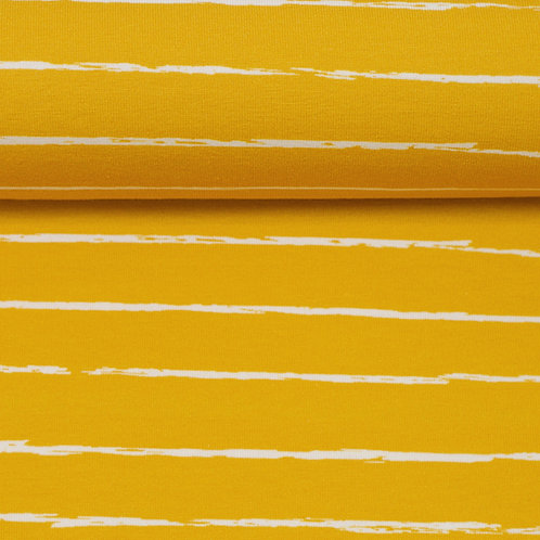 BW Jersey Crayon by Lila-Lotta senf - Swafing