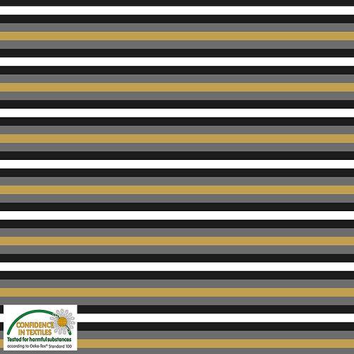 Avalana Jersey schwarz/wei/gelb/grau gestreift - STOF