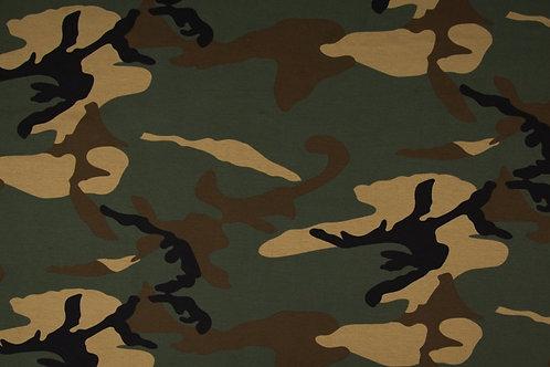 Cotton Span Jersey Print Camouflage braun/grün