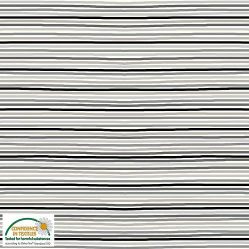 Jersey grau/beige Streifen - STOF