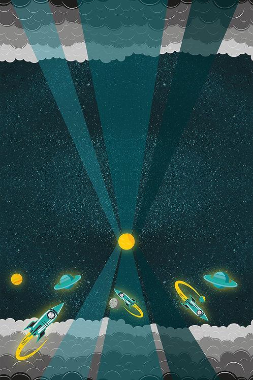 Sweat Galaxy Tales Panel by Bienvenido Colorido  - Swafing