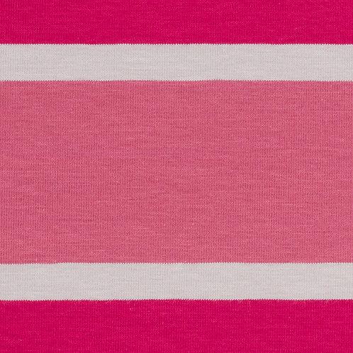 Jersey Streifen pink 160cm - Swafing